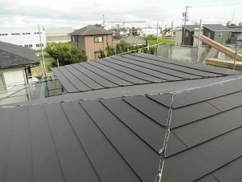 屋根材完成