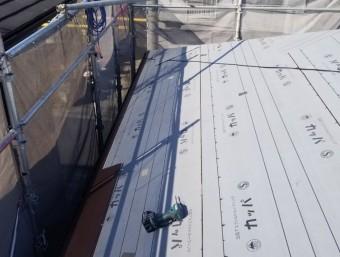 屋根材張り出し