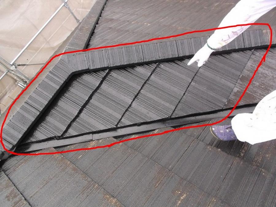 屋根塗装箇所