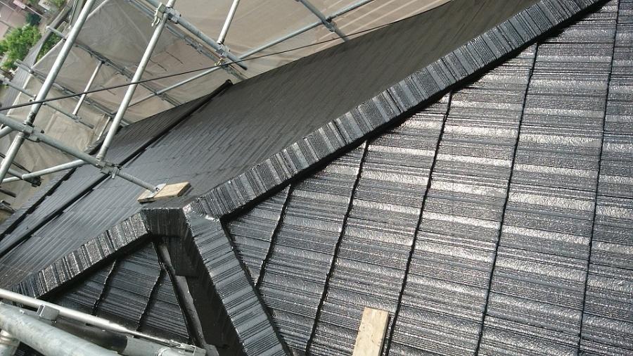 屋根塗装完成1