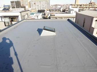 屋上(陸屋根)塩ビシート防水改修工事後