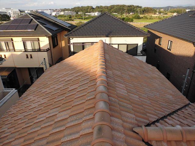 名古屋市南区 瓦屋根の点検依頼を受け伺いました