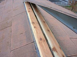 棟板金と棟木の交換