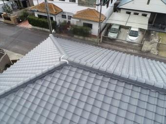 施工後の上空写真