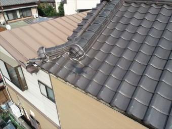 大屋根の漆喰の劣化