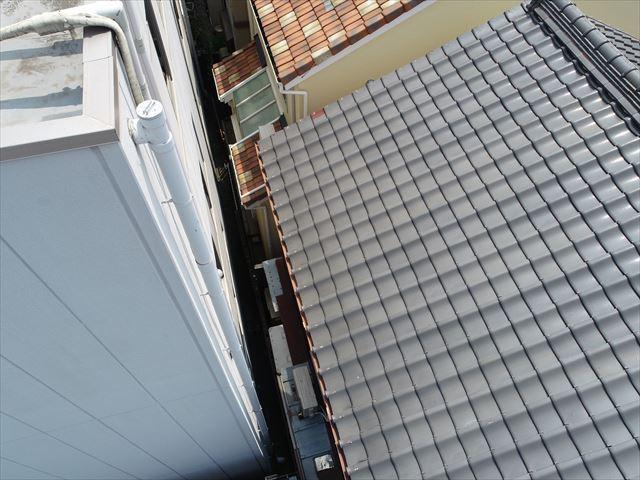 屋根の全景(ドローン撮影)