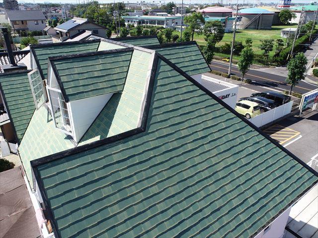 刈谷市にてスレート屋根のケラバや塗膜の状態の点検に行きました