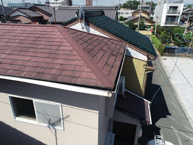 和室の雨漏り部分の屋根