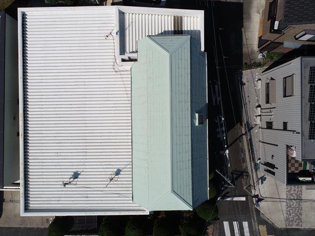 名古屋市緑区にて折半屋根とスレート屋根の点検を実施しました