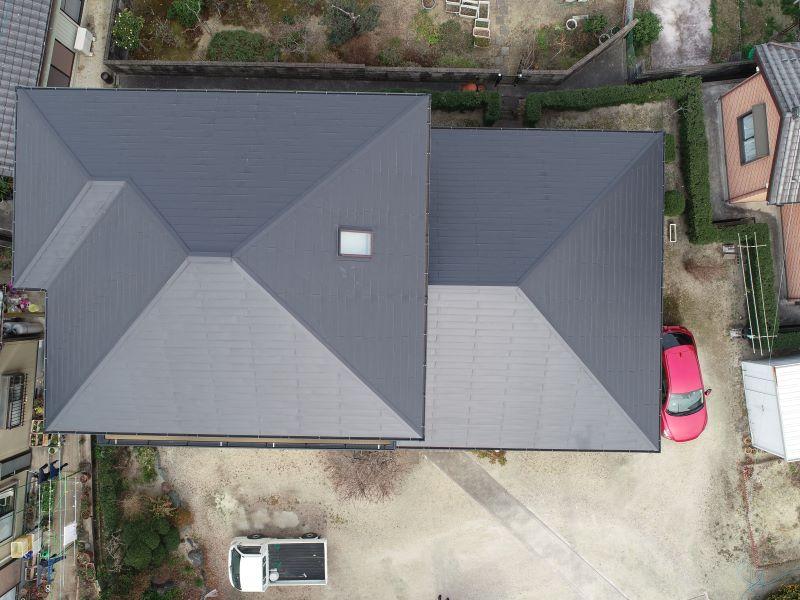 屋根ドローン点検
