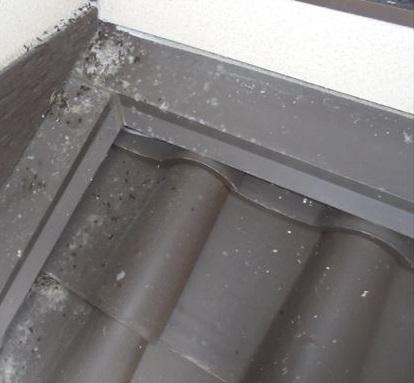 屋根と壁の取り合い