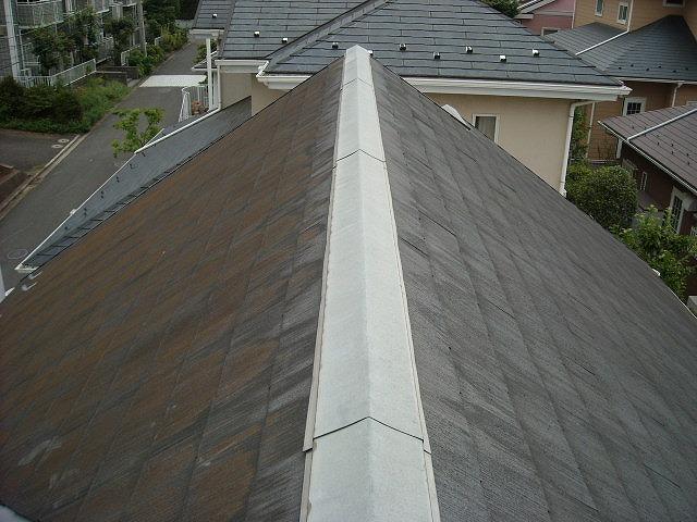 急勾配スレート屋根の点検