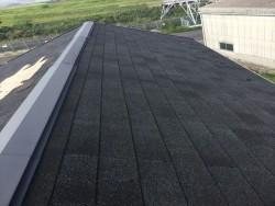 シングル材の屋根全景