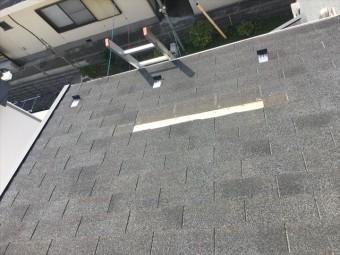 シングル材の屋根
