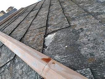 換気棟が飛んだ屋根