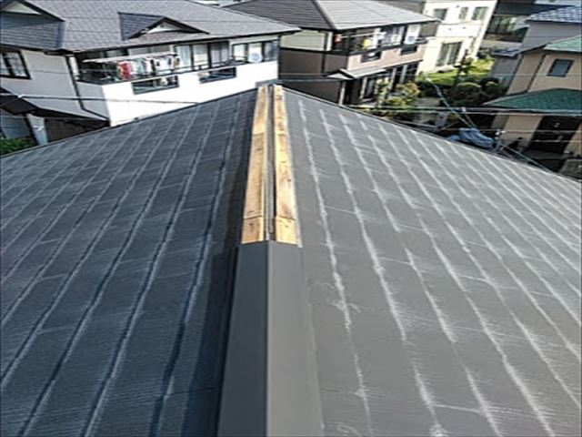 板金が飛ばされた屋根のカバー工事