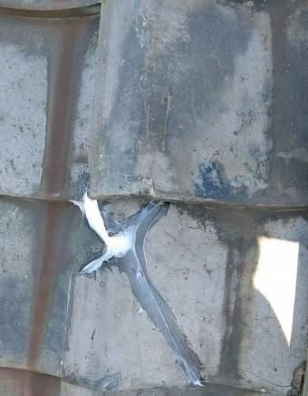 割れた瓦の補修