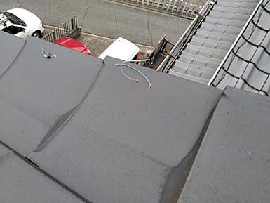 台風後の屋根点検