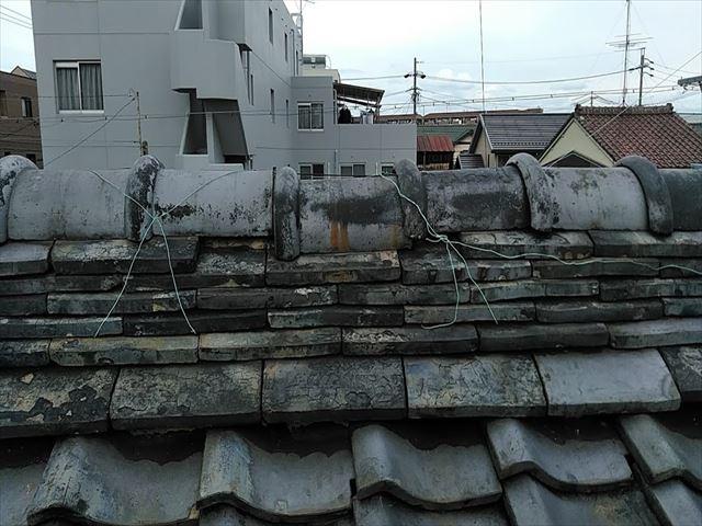 瓦の葺き替え施工前