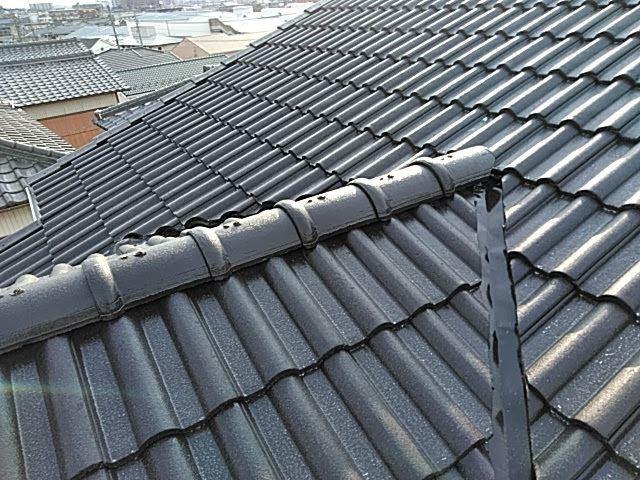 屋根外壁塗装、棟板金補修