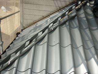 屋根金属瓦葺き替え