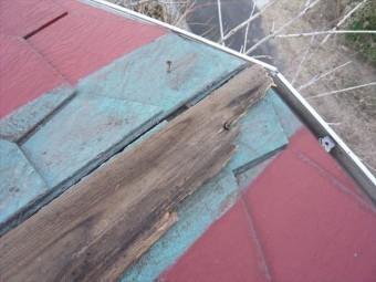 棟板金の破損