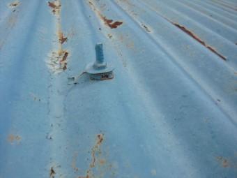 波トタンの錆による劣化