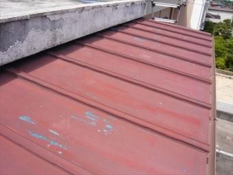 増築部分のトタン屋根