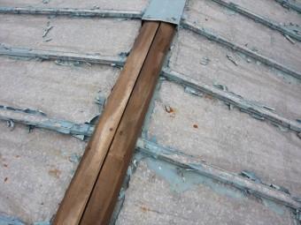 トタン屋根の板金の飛散