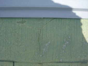 棟板金周辺のスレートの割れ
