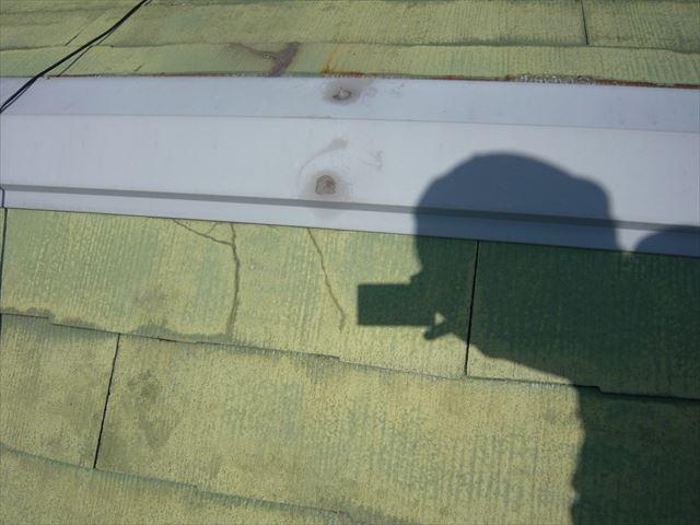 棟板金の悪い固定の仕方