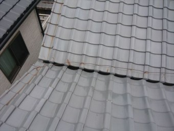 瓦屋根の全景