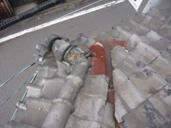 棟瓦の崩れ