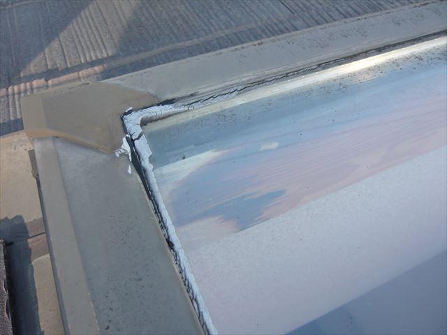 天窓のガラス周りの劣化