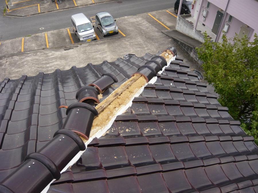 棟瓦のはがれ