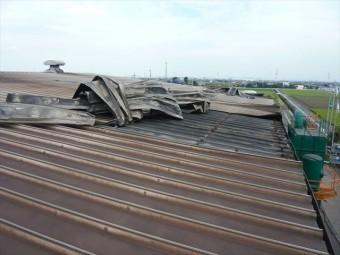 カバーした屋根の捲れ