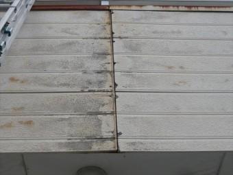ベランダ外壁の劣化