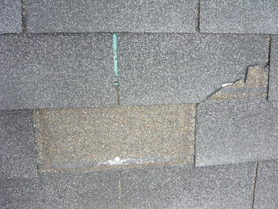 屋根材に亀裂