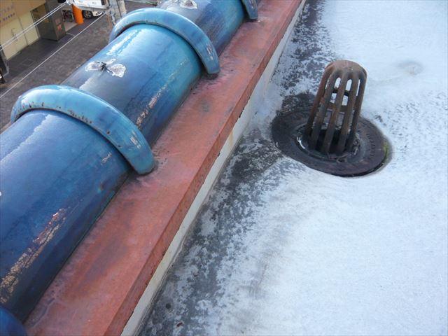 陸屋根部分の防水の劣化