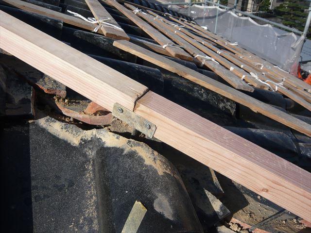 新しい垂木の取付