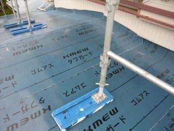 防水紙張り(下屋根)