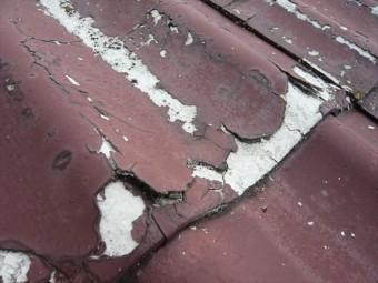 下屋根の劣化状況