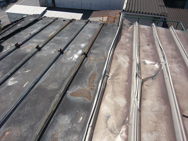 屋根材を撤去後