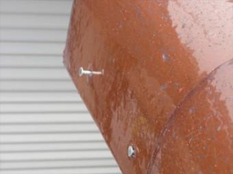 ケラバ瓦の釘浮き