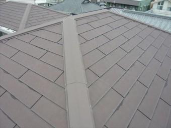 スレート屋根の全景