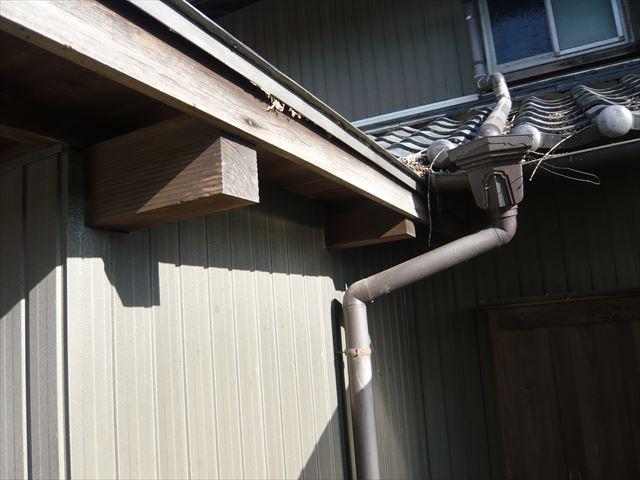 増築した瓦棒部分