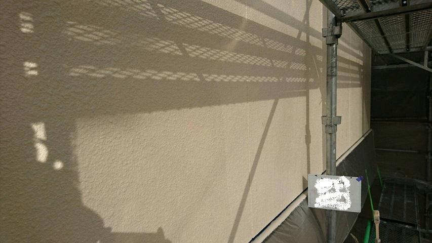 外壁塗装上塗り完了