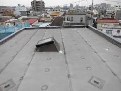 屋上(陸屋根)塩ビシート防水改修工事前