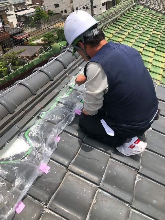 漆喰補修工事
